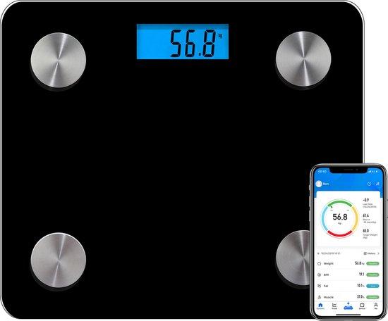 Smart Personenweegschaal Slimme Weegschaal - 12x Volledige Lichaamsanalyse...