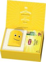 Lipton Thee Yellow Label, geschenkset inclusief een Lipton special editie theemok - 42 zakjes en Theemok - Cadeauverpakking