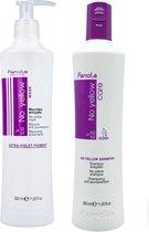 Fanola No Yellow Shampoo + Masker set - 350 ml
