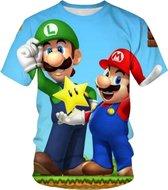 Super Mario en Luigi T-shirt _ maat 130 - Multi