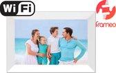 """Denver PFF-1024 Black - 10.1"""" digitale fotolijst - fotokader - FRAMEO software 16GB - IPS touchscreen - Wit"""