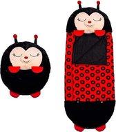 Happy napper -180 cms |lieveheersbeestje slaapzak junior | nappers | Children Sleeping Bag | kinderen slaapzak | Super Soft 2 in 1 Fun Pillow &Sleepy for Boys |  slaapzak | zachte slaapzak | knuffel slaapzak | 2 in 1 slaapzak | kinderen