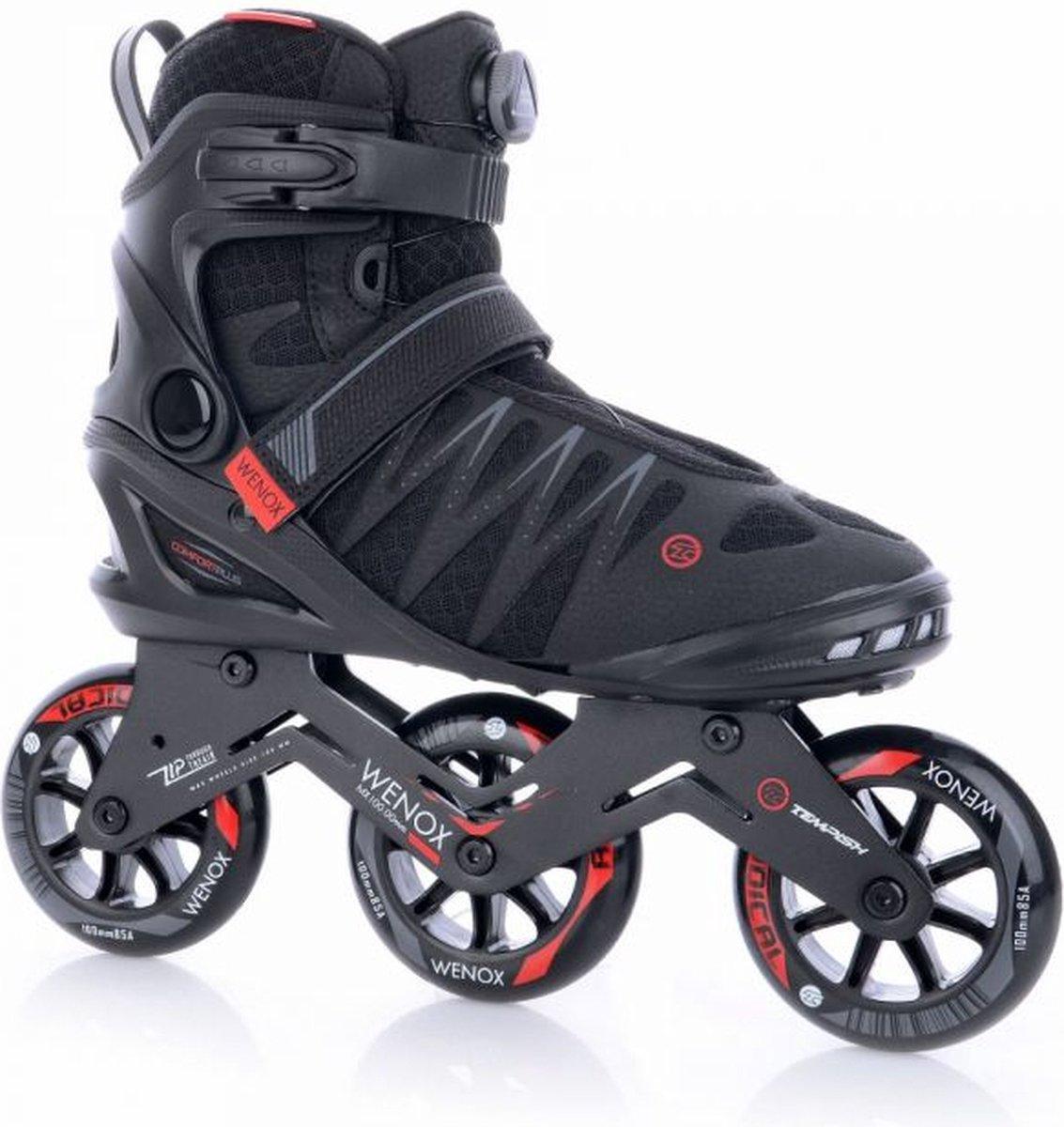 Tempish - Skeelers - Wenox - Top 100 - Zwart/Rood - Maat 44 - Heren - Skates