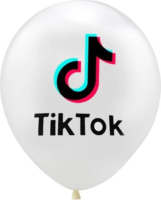 TikTok Ballon witte ballonnen 10 Stuks/Tik Tok Ballonnen/ Verjaardag/ Feestje
