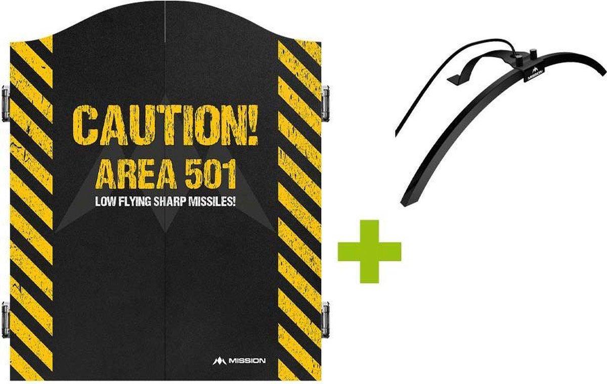 Mission Deluxe Caution 501 Dartkabinet +