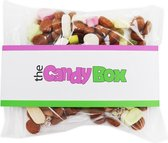 The candy box snoep snoepzakjes - wie kent hem niet snoepgoed - 300 gram uitdeel snoep sinterklaas,  pepernoten, tum tum, schuimpjes, hartjes ook voor kinderen