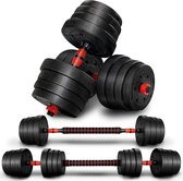 SOUTHWALL dumbell set tot 30kg – halterset – fitness gewichten – verstelbare gewichten - halterstang