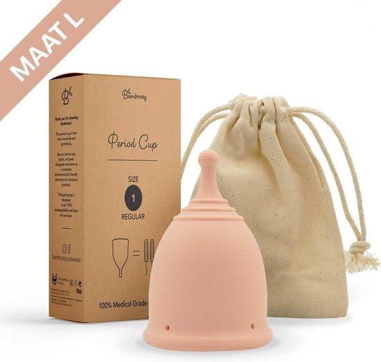 Bamboozy Menstruatiecup Maat L Herbruikbare Menstruatie Cup Period Duurzaam Menstrueren Zero Waste - Nude