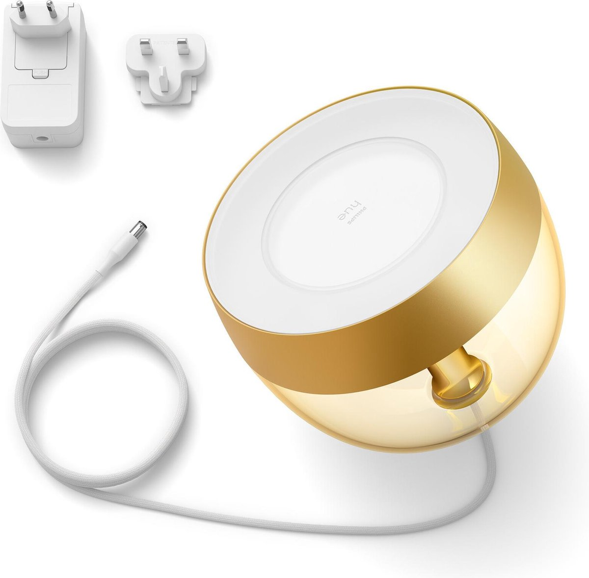 Philips Hue Iris Tafellamp - White and Color Ambiance - Gëintegreerd LED - Goud - 8,1W - Bluetooth - Limited Edition