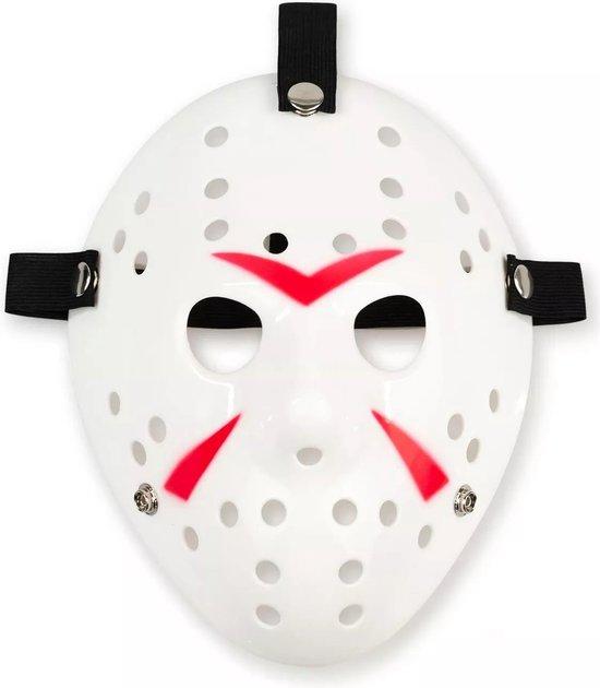 Jason Voorhees Hockey Masker - Halloween Masker - Horror Film Friday The 13th - Cosplay Masker - Verkleedmasker - Wit