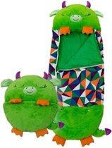 Happy napper -180 cms |slaapzak junior | nappers | Children Sleeping Bag | kinderen slaapzak | Super Soft 2 in 1 Fun Pillow &Sleepy for Boys | draak slaapzak | zachte slaapzak | knuffel slaapzak | 2 in 1 slaapzak | kinderen