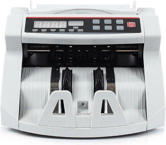 Geldtelmachine - Biljettelmachine - 1000 biljetten/minuut - 3-voudig valsgelddetectie - Optel & batch-functie - Draaghendel - Alarm - Geldteller - Geldtelmachine -