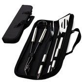 CuisiNoon® BBQ Accessoires set - Incl. opberghoes - BBQ Set met BBQ tang, vork, spatel en spiezen