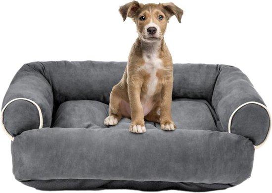 LORIOTH® Hondenbank - Wasbaar Hondenbed - Hondenmand - Zacht Kussen Hond - Verdikt Kussen Kat - Grijs - M
