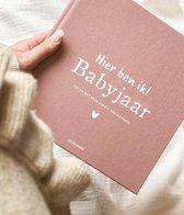 Babyjaar invulboek Linnen Roze