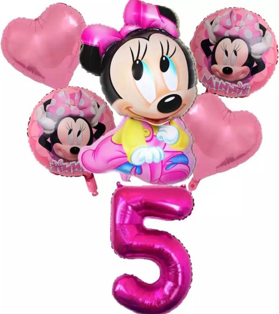 Disney Minnie Mouse Ballonnen 6 stuks Verjaardagsfeestje Decoraties Baby Shower Decor Kids Party Mickey Ballon