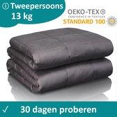 Veilura verzwaringsdeken tweepersoons - Luxe kwaliteit - 200 x 220 cm - Premium Weighted blanket / Verzwaarde deken - 13 KG