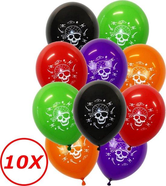 Halloween Versiering Decoratie Helium Ballonnen Feest Versiering Halloween Accessoires Ballon Mix Piraat – 10 Stuks