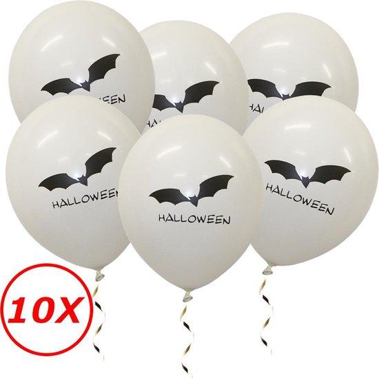 Halloween Versiering Decoratie Helium Ballonnen Feest Versiering Halloween Accessoires Ballon Wit Vleermuis – 10 Stuks