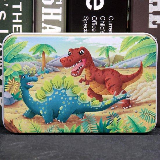 4yourkids - Houten speelgoed puzzel voor kinderen - Dinosaurus - 60 stuks - Blok puzzel - Vroege educatieve ontwikkeling - Jongens en meisjes - 3 jaar - Gift - Cadeau - Sinterklaas - Kerst