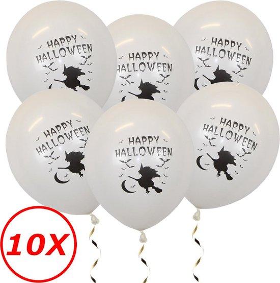 Halloween Versiering Decoratie Helium Ballonnen Feest Versiering Halloween Accessoires Ballon Wit Heks – 10 Stuks