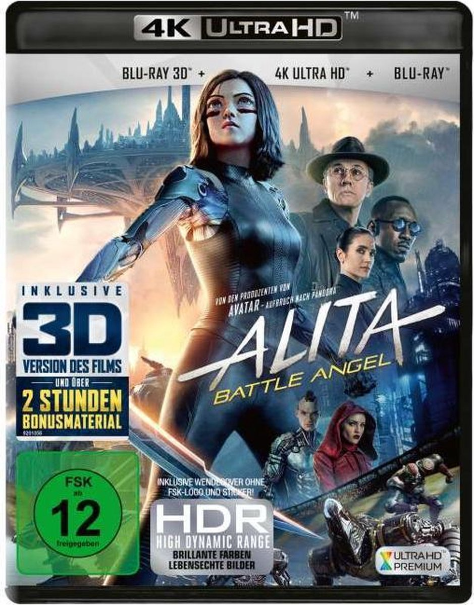 Alita: Battle Angel (Ultra HD Blu-ray & 3D & 2D Blu-ray)-