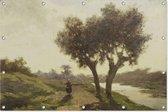 Landschap met twee bomen   Paul Joseph Constantin Gabriël   1860 - 1867   Kunst   Tuindoek   Tuindecoratie   180CM x 120CM   Tuinposter   Spandoek   Oude meesters