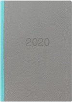 Letts of London Two Tone A5 2020 week to view agenda Grey / Teal