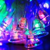 7m bel hangers decoratie lichtslingers, 30-led multi-gekleurde licht (ac 220v / eu stekker) (transparant)