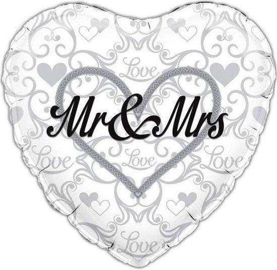 folieballon - Mr & Mrs - 45 cm - leeg