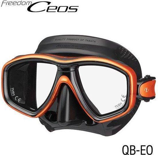 TUSA Freedom Ceos duikbril - zwart/oranje