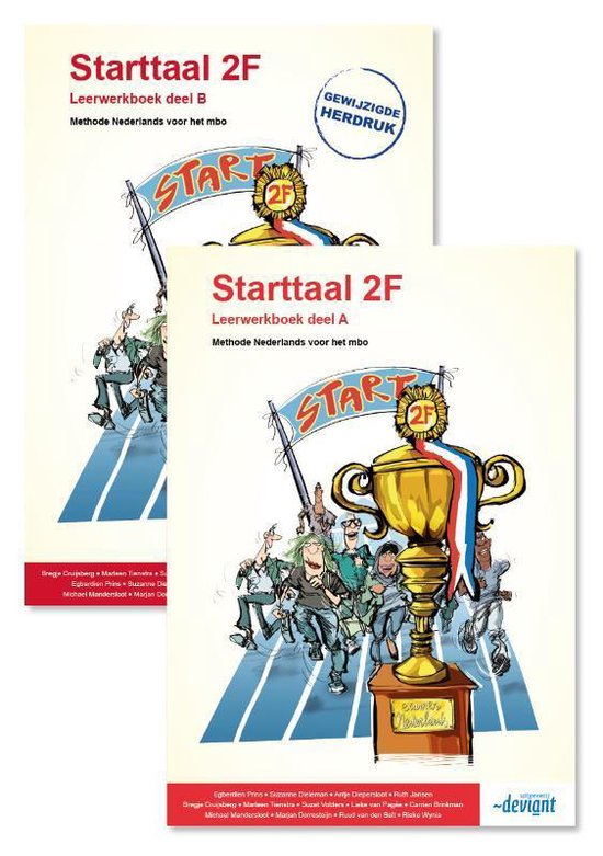 Boek cover Starttaal 2F deel A en B Leerwerkboek van Ruud van den Belt (Paperback)