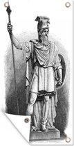 Een illustratie van het standbeeld van Odin tuinposter 30x60 cm - klein - Tuindoek / Buitencanvas / Schilderijen voor buiten (tuin decoratie)