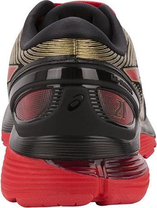Asics Gel-Nimbus 21 hardloopschoenen heren zwart/rood