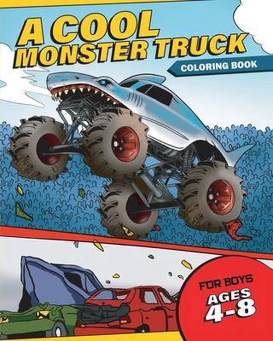 A Cool Monster Truck Coloring Book