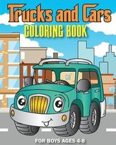 Trucks and Cars Coloring Book