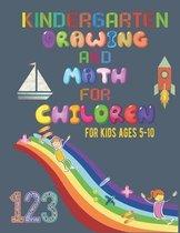 Kindergarten drawing and math for children