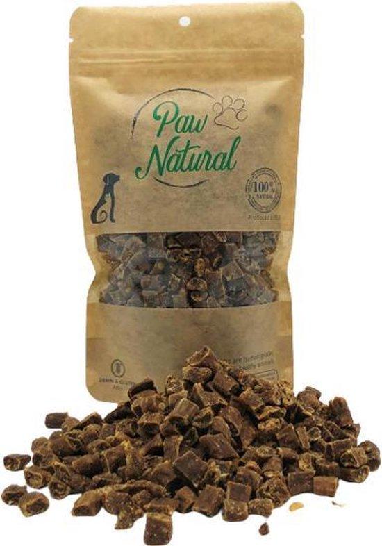 Paw Natural Struisvogel Trainingstraktatie Snacks voor Honden Beloningen 250g. Graan en Glutenvrij, Naturel Hondenvoer voor dieren, alle rassen.