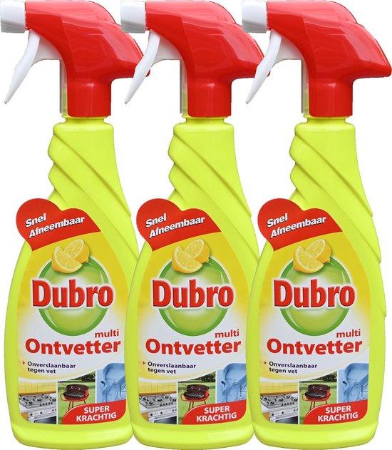 3 x Dubro multi ontvetter spray - onverslaanbaar tegen vet - super krachtig - 3 x 650 ml