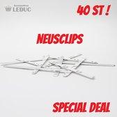 *** 40 st *** Metalen zelfklevende neusclips voor Mondkapjes Maskers © ACCESSOIRES LEDUC