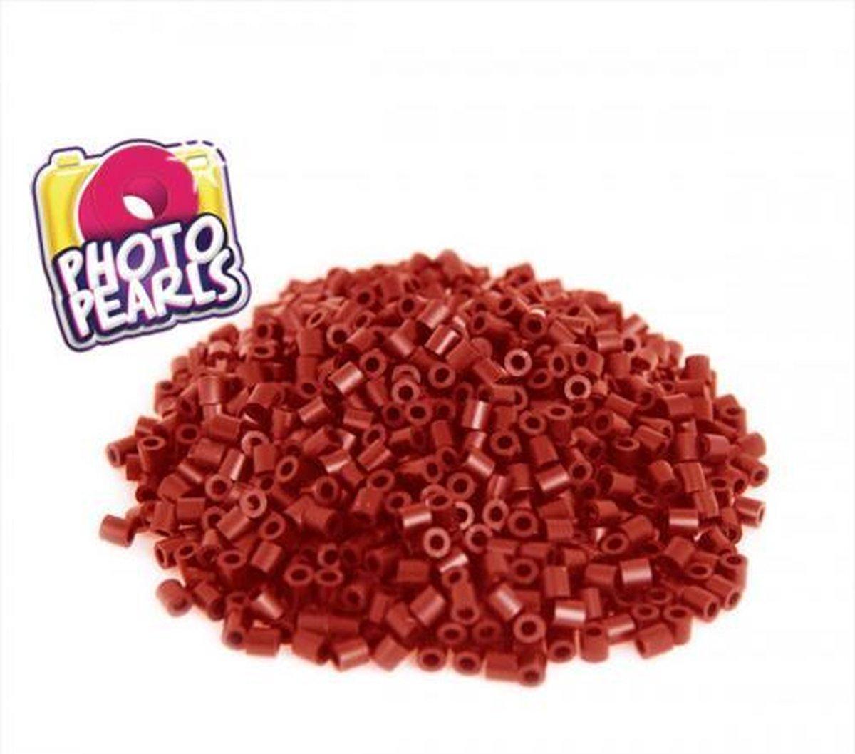 Bordeaux rood(no.4) - Strijkkralen - Kraaltjes - Photo Pearls - Knutselen - Kinderkraaltjes - Strijken - Kralen - Goliath - 1100 stuks