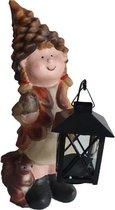 Kabouter Herfstmeisje met lantaarn