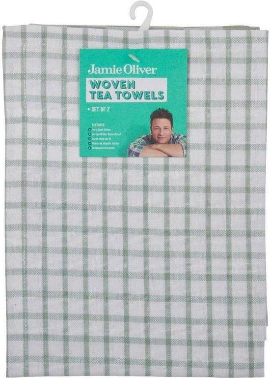 Jamie Oliver - theedoeken set 2 - lichtgroen