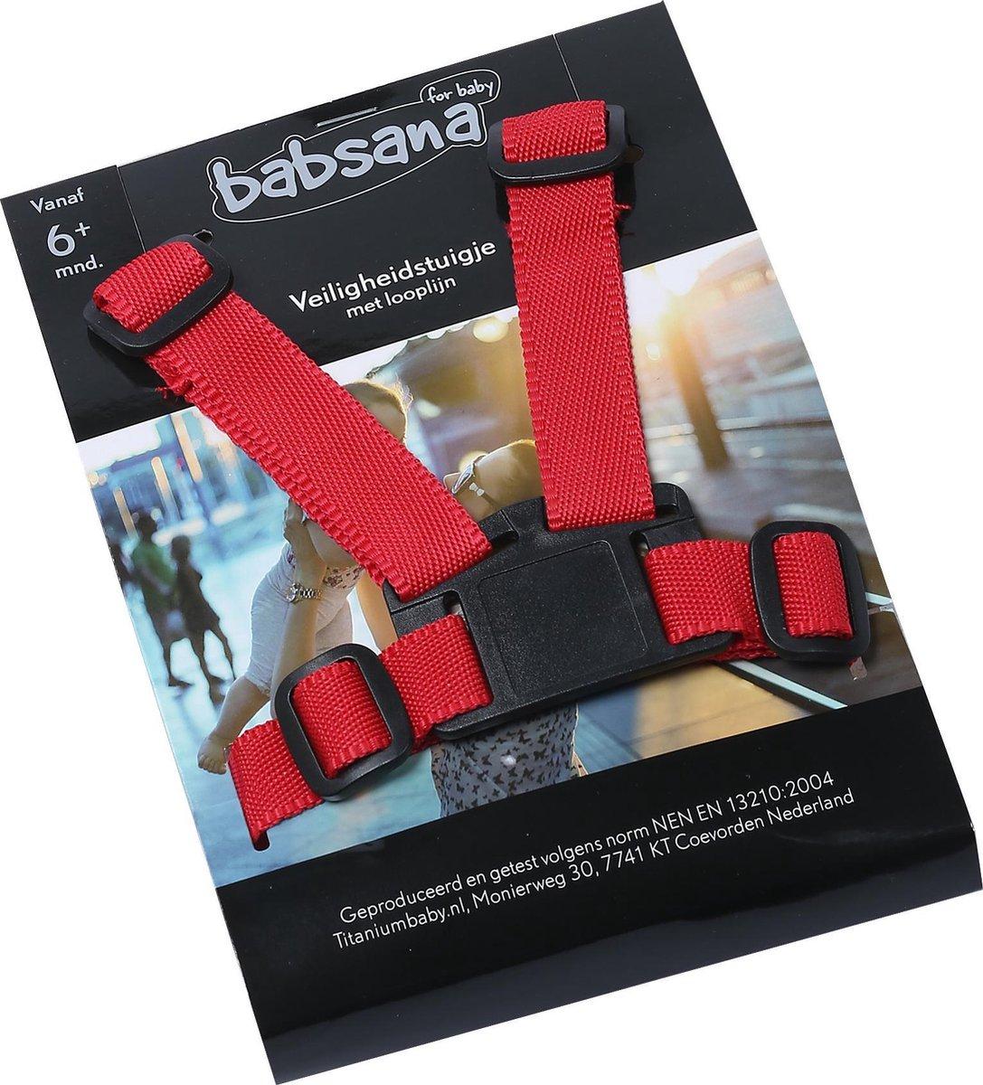 Babsana Veiligheidstuigje Met Looplijn - Rood - Titanium Baby