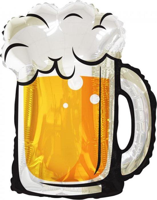 Folie ballon Bier glas, 91 centimeter.