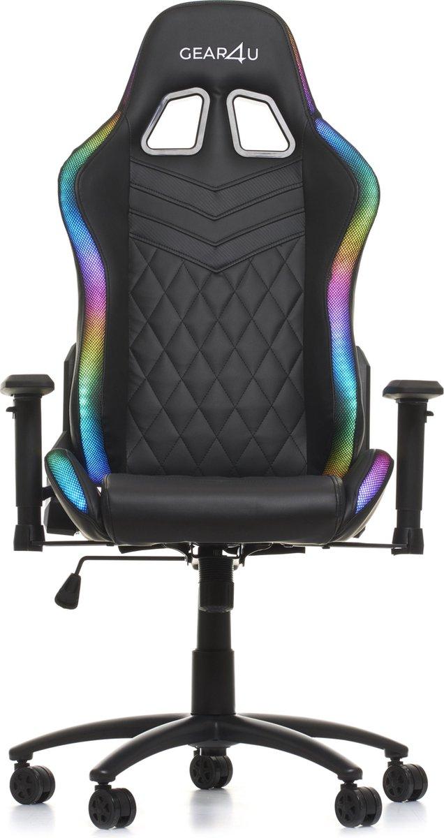 Gear4U Illuminated gaming stoel - gamestoel - RGB zwart