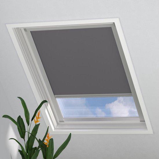 Dakraam Rolgordijn Trend Verduisterend Light Grey voor Velux: S06 / 4 / 606