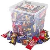 ChocoladeBox van 100 stuks Nestle Miniaturen - 1710  gram - Lion mini, Smarties mini, KitKat mini