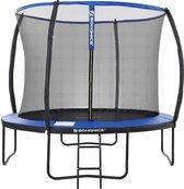 Nancy's Trampoline Met Veiligheidsnet - Trampolines - Tuin - Ladder - Gevoerde Stangen - Zwart/Blauw - Ø 305