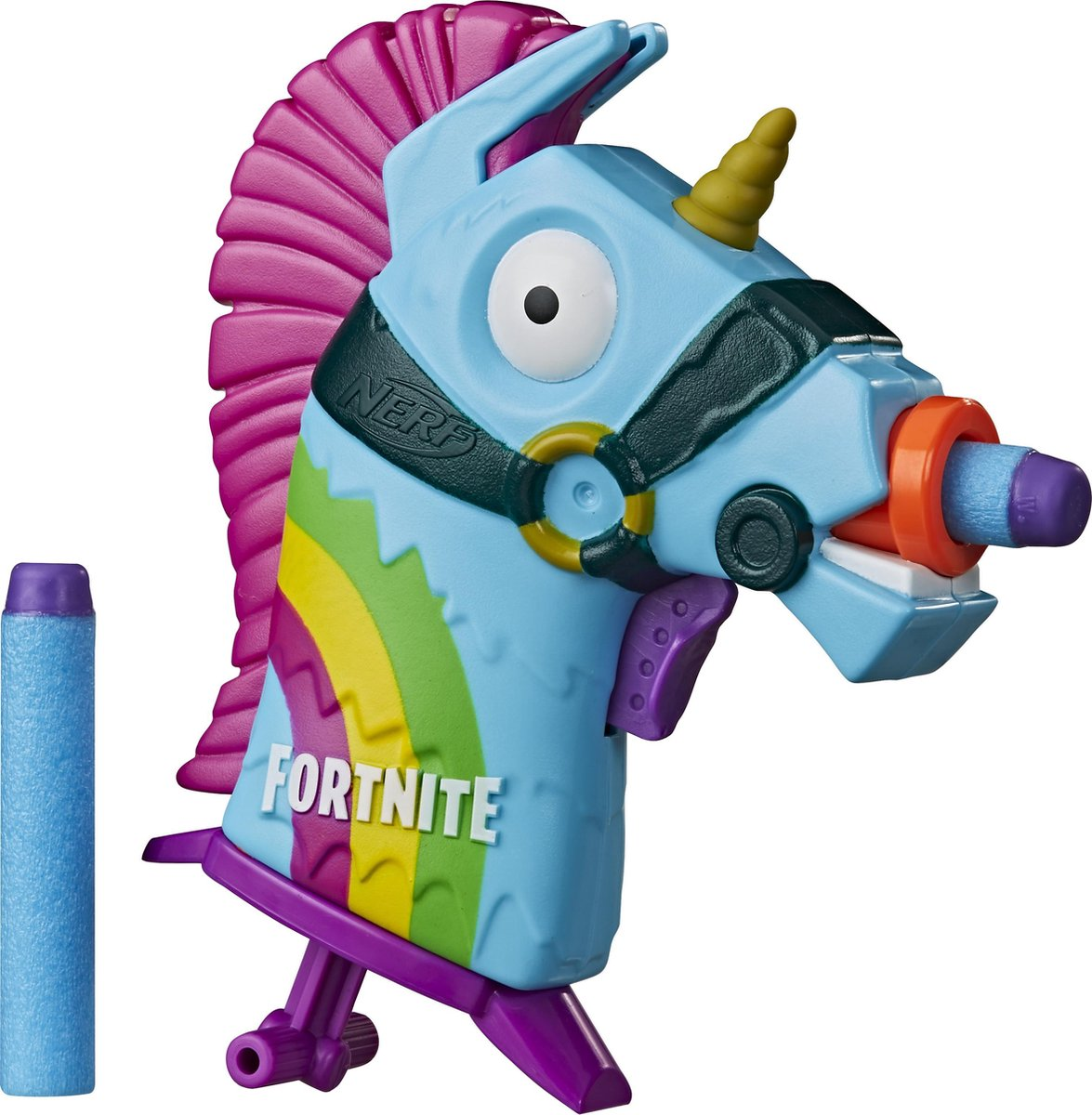 NERF blaster Fortnite Rainbow Smash junior 21 cm blauw/paars